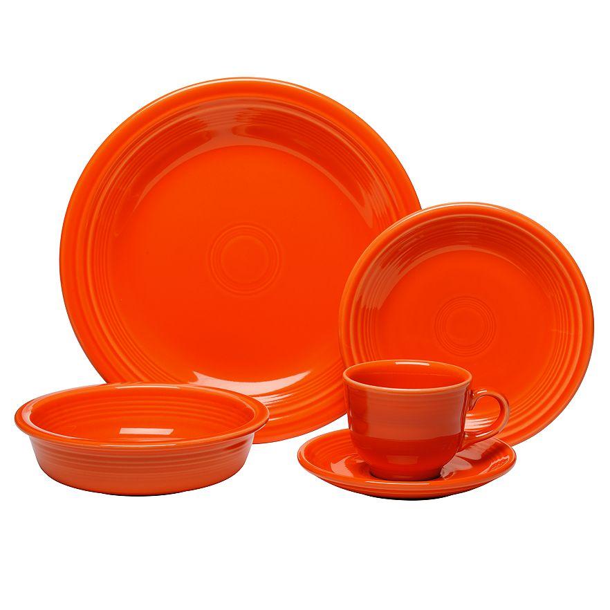 Kohls Cardholders - Fiesta 20 piece dinnerware set for $60 @Kohls in Poppy or Sage Reg. $224