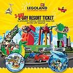 Legoland California - Water Park & SEA LIFE Aquarium 3-Day Hopper - $90 at Costco