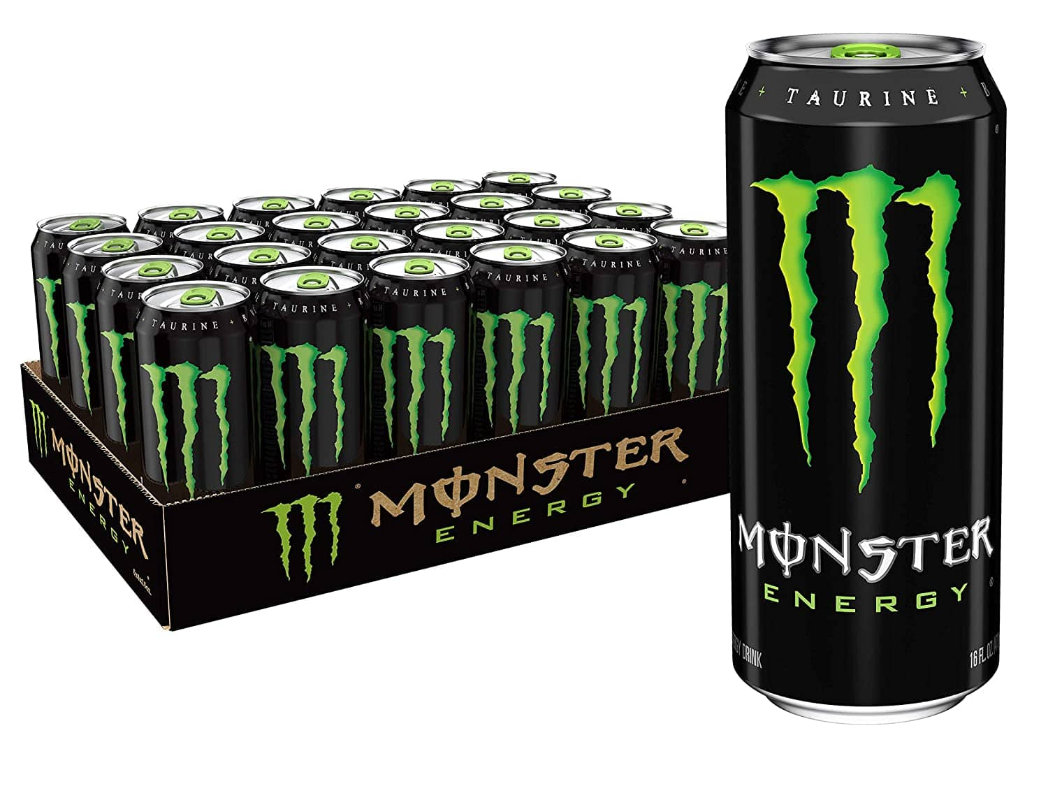 Monster Energy Drink, Green, Original, 16 Ounce (Pack of 24) $25.32