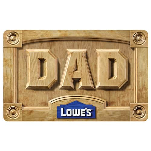 Free $10 Lowes Gift Card when you purchase $100 Lowes Gift Card