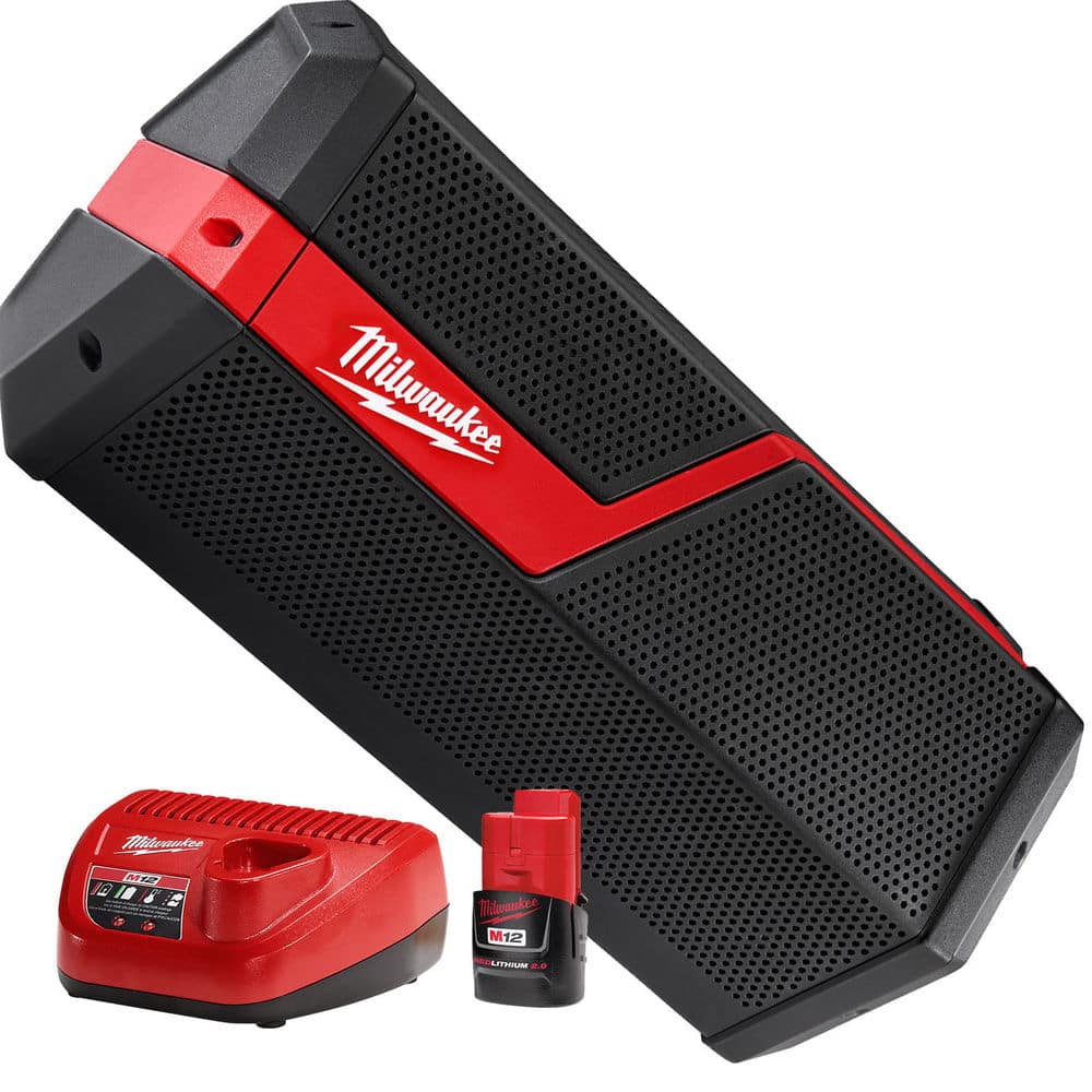 Milwaukee M18/M12 Wireless Jobsite Speaker (2891-21P) w/ 2.0Ah battery $109.65 shipped after eBay coupon