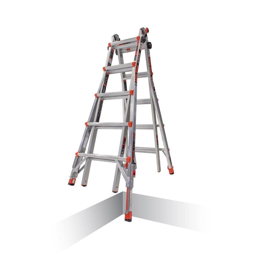 Little Giant Ladders Leveler Aluminum 22-ft Reach Type 1A - 300 lbs. Capacity Telescoping Multi-Position Ladder $169