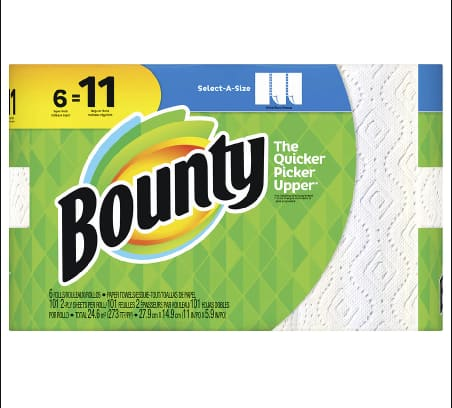 Walgreens.com: Bounty Select-a-Size 3,528 Sheets and Filler Item for $46.51