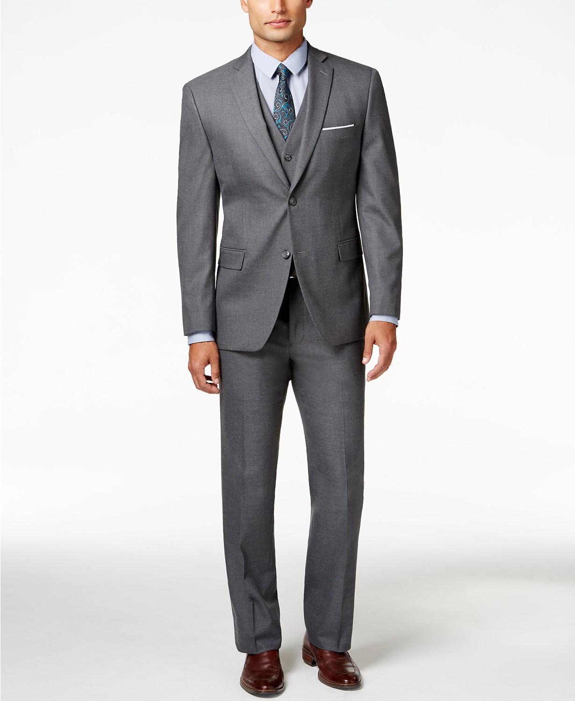 Alfani Men's Stretch Performance Solid Slim-Fit Suit - $73.99