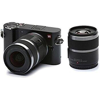 YI M1 4K 20 MP Mirrorless micro 4/3 camera with 12-40mm & 42.5mm f1.8 lens $350