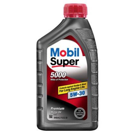 Walmart- Mobil Super 5W-30 5000 miles Motor Oil, 1 qt. - $2.44