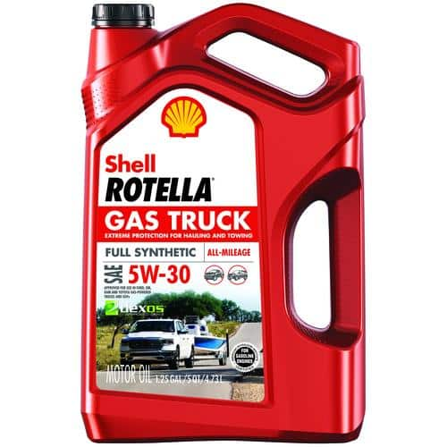 Shell Rotella® Gas Truck Full Synthetic 5W-30/5W-20 Motor Oil - 5 Quarts $4.99