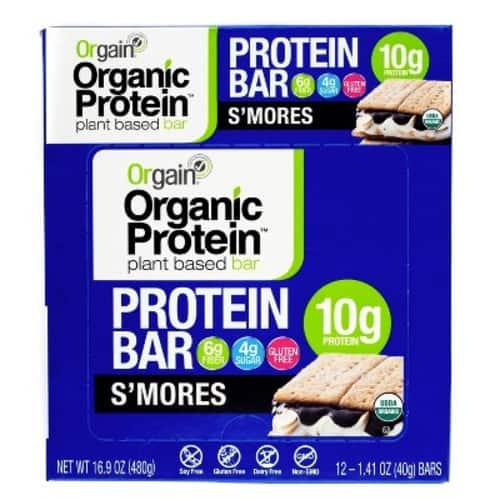 Orgain Organic Protein Bar, S'Mores, 12 Count [S'mores] $4.3