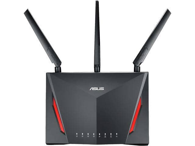 ASUS RT-AC86U AC2900 Wi-Fi Dual-band Gigabit Wireless Router - $160 after code EMCTWUV68 @ Newegg.com