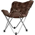 Cocoon Long Hair Faux Fur Butterfly Chair, Brown $15.33 + ship @ Walmart