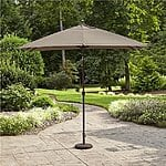 Sears - 9' x 6' rectangular La-Z-Boy umbrellas, gray or green, $59.97 with free shipping, matching base $29.99