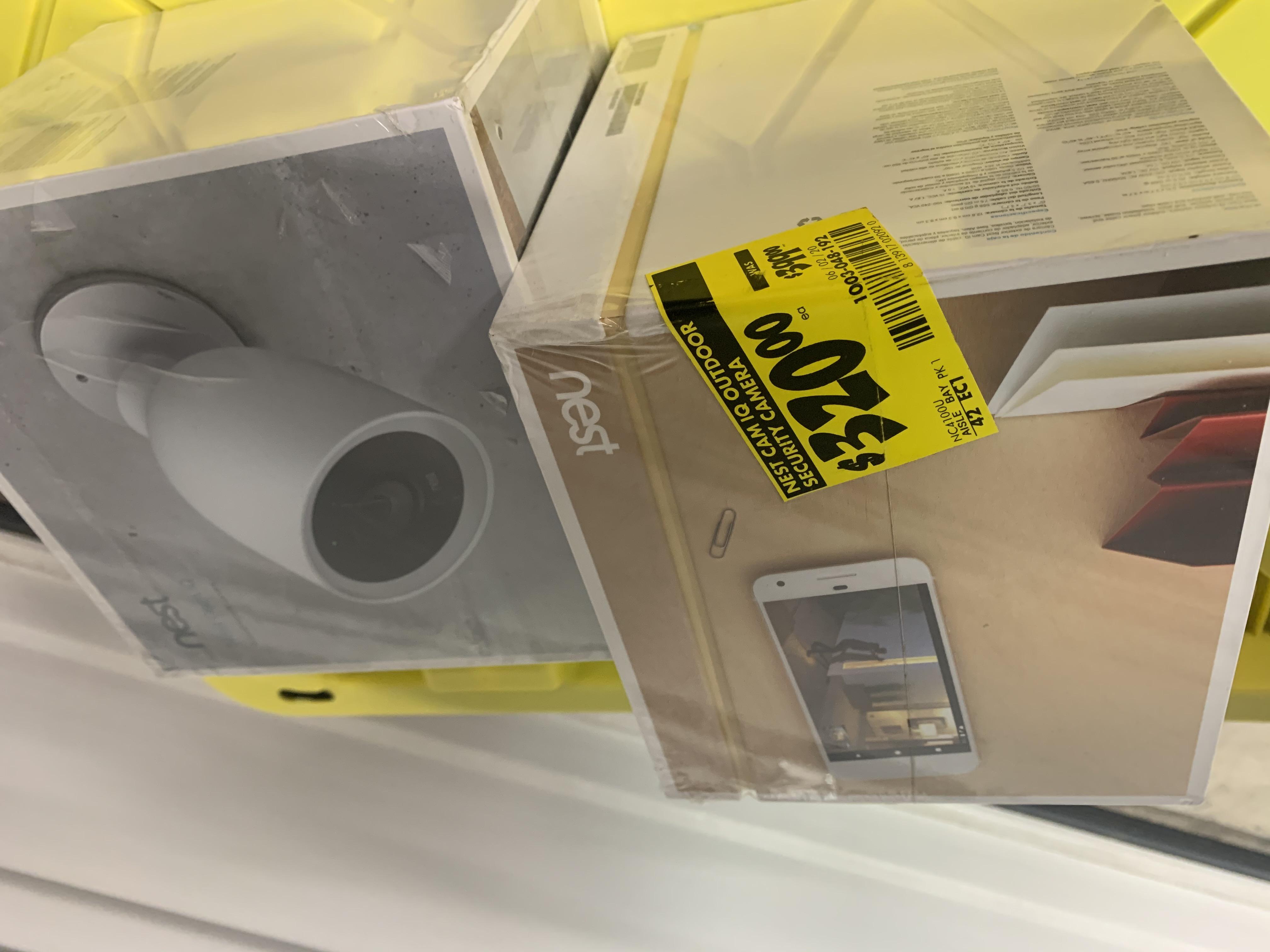 Nest Cam IQ Outdoor $100.03 / Nest Cam Indoor 3 Pack - $100.03 - YMMV - B&M - Home Depot