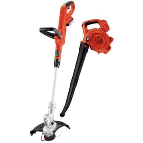 Black & Decker LCC300 20V MAX 2.0 Ah Lithium-Ion Cordless String Trimmer and Sweeper Combo Kit $69.99