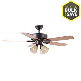 Harbor Breeze Springfield Ii 52 In Bronze Indoor Ceiling Fan With Light Kit 44 98