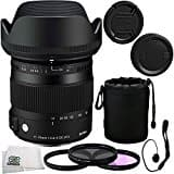Sigma 85mm f/1.4 DG HSM Art Lens for Nikon F 7PC Accessory Kit - Includes 3 Piece Filter Kit (UV + CPL + FLD) + Cleaning Cloth + Lens Cap Keeper + MORE