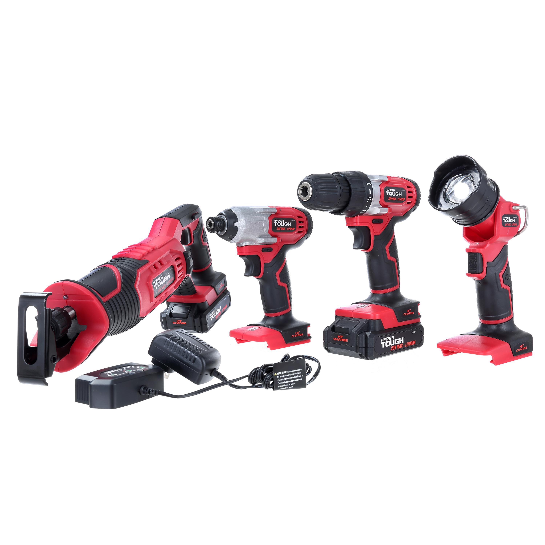 Hyper Tough Ht 20-Volt 4-Tool Combo Kit AQ90146G YMMV $50