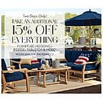 Pottery Barn Outlet - 15% Off Everything