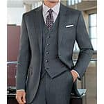 Joseph 2 Button Wool Vested Suit with Plain Front Trousers $97.00 + fs @josbank.com