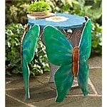 Handcrafted Metal Butterfly Side Table 1 $79.99 + ship @windandweather.com