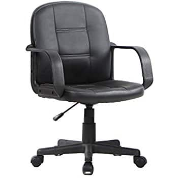 Ergonomic Mid Back Office Chair, Bonded Leather Computer Task Chair $44.99 + fs