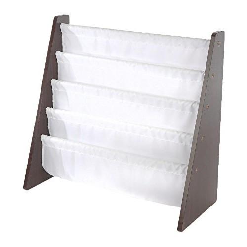 Tot Tutors Kids Book Rack Storage Bookshelf, Espresso/White $19.77