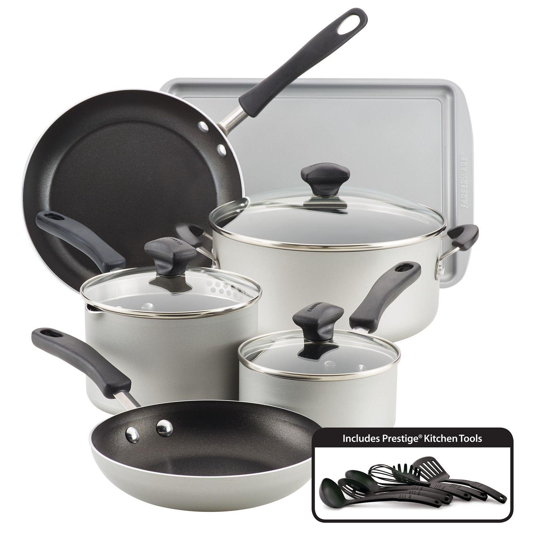 15-Piece Farberware Cookware Set (4 Colors) $49.99