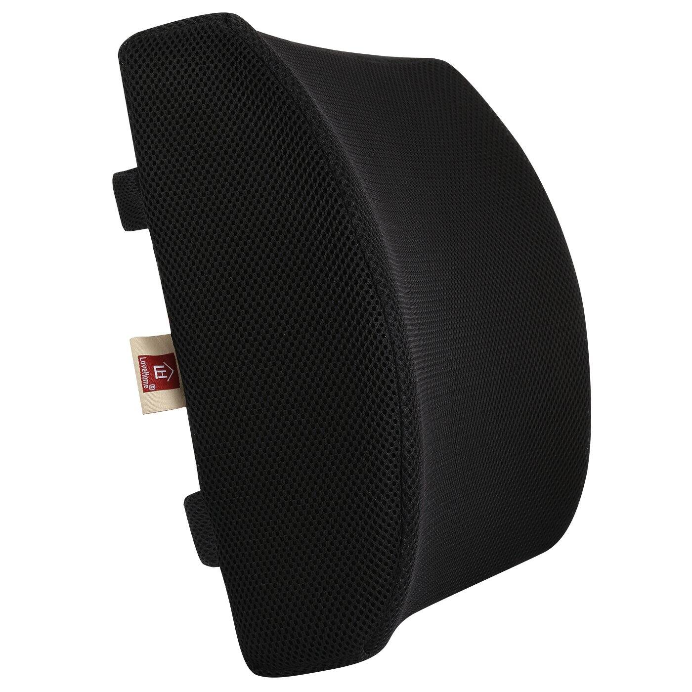 50% OFF on LOVEHOME Memory Foam Lumbar Support Back Cushion with 3D Mesh Cover $12.99