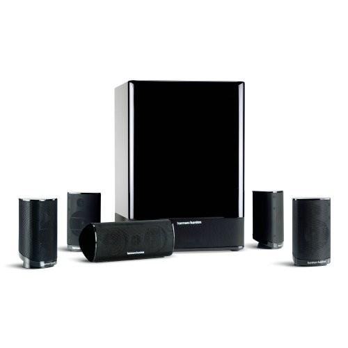 Harman Kardon HKTS-15 5.1 High-Performance, 6-Piece Home Theater Speaker System (Black Gloss)  $129.00