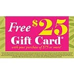 Fire And Ice: Free $25 Gift Card With $75+ Purchase