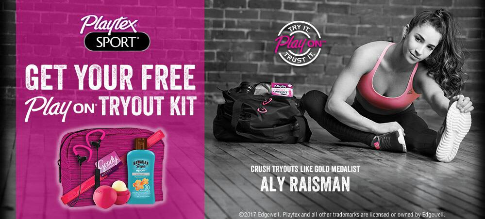 Free Playtex Play On Tryout Kit with Bluetooth headphones and samples when you buy participating product and upload the receipt