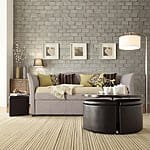 INSPIRE Q Deco Gray Linen Daybed with Trundle $439.19 + ship @overstock.com