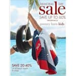 Up to 60% Off Pottery Barn Kids MEMORIAL DAY Sale