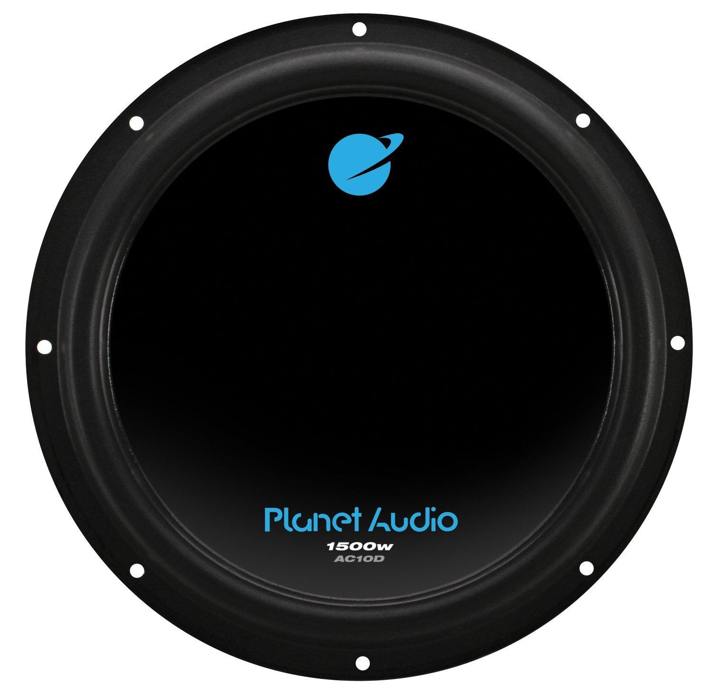 Planet Audio AC10D 1500 Watt, 10 Inch, Dual 4 Ohm Voice Coil Car Subwoofer $19.99