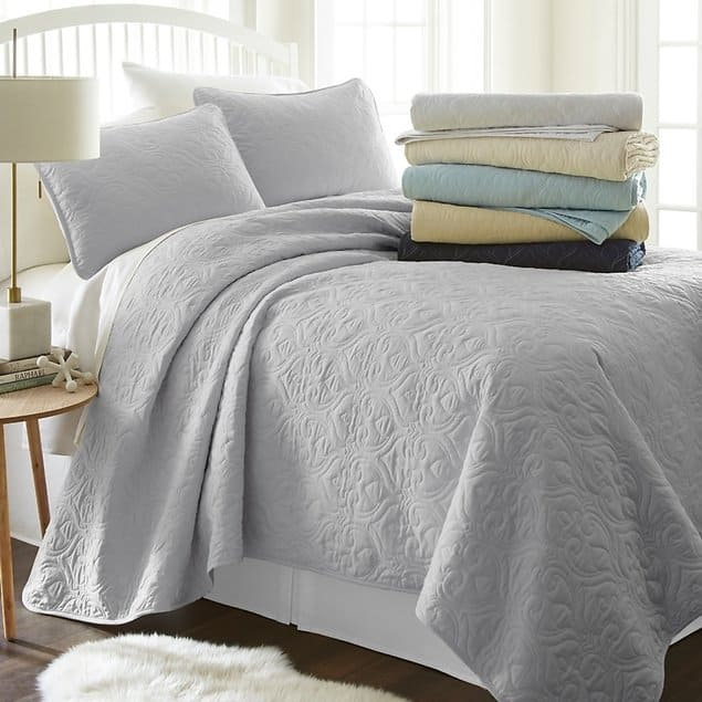 Becky Cameron Premium Ultra Soft Quilted Coverlet Set $30.99 + fs