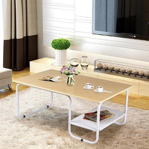 Yaheetech Rectangular Modern Coffee Table w/Lower Shelf $43.99 + fs