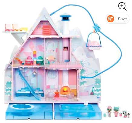. Surprise! Winter Disco Chalet Doll House with 95+ Surprises & Exclusive Family $