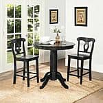 Aubrey 3-Piece Counter-Height Dining Set, Black $93.40 + FS @ Walmart