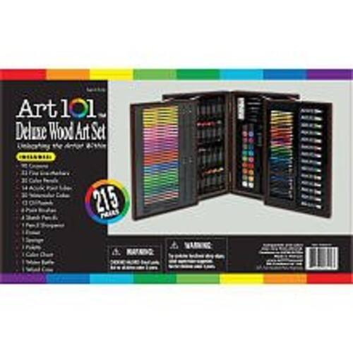 Art 101 Deluxe Artist Set in Wood Case (215 Piece) $39.27 + fs