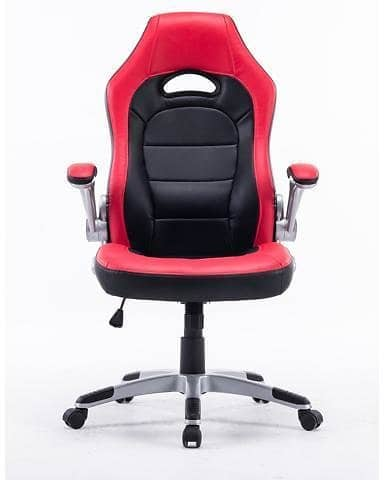 Executive Swivel Gaming Racing Leather High-Back Computer PC Office Chair Manager Chair Red with Black $75.99 $75.96
