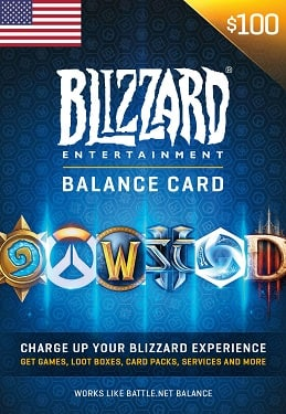 Blizzard Gift Card 50 USD Battle.net United States for $44 and 100 USD for $88