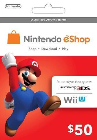 Nintendo $50 USD eShop Cards US $41.99