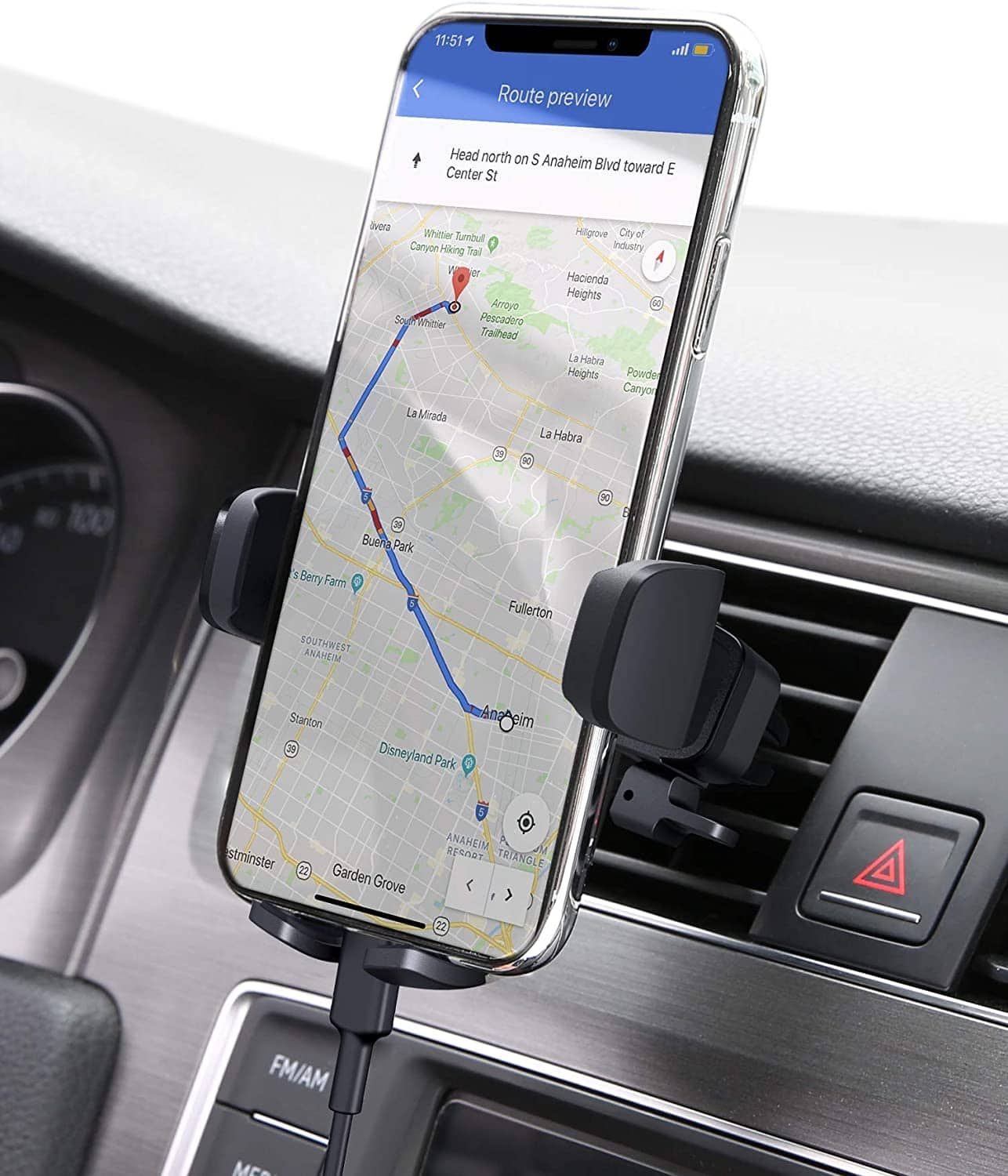 25% off AUKEY Car Phone Mount Air Vent Phone Holder for Car Compatible with iPhone 11 Pro/11/Xs/8/7/6, Galaxy S10/S10+/S9/S9+, Note 10,LG,Huawei,Pixel and Other $6.64