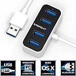 4 Port Mini Portable USB 2.0 Hub [2-ft cable] $12.99 + ship @amazon.com