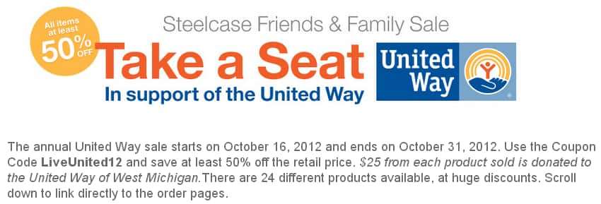 Steelcase Friends & Family Sale