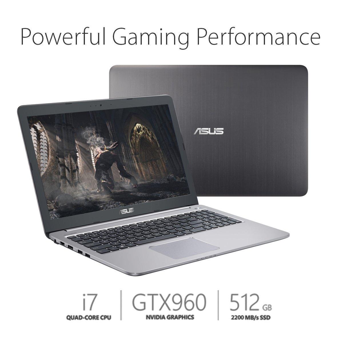 ASUS 15.6-inch Full-HD Gaming Laptop (i7-6500U, GTX 960M, 8GB DDR4, 512GB SSD) Glacier Grey - $799