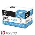 "HP Office Ultra White Paper, 8 1/2"" x 11"", 20 Lb, 500 Sheets Per Ream, Case Of 10 Reams $29 .99"