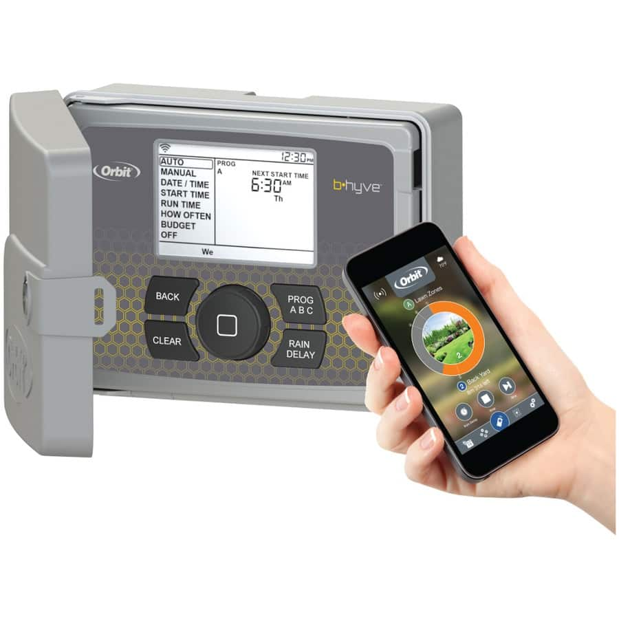 Orbit B-Hyve Smart Watering 12-Station Wi-Fi Compatible Indoor/Outdoor Smart Irrigation Timer $109