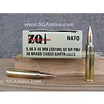 OOS AMMO 1200 round case - 5.56 x 45 mm SS109 Ammo for Sale - ZQI Ammunition 62 Grain FMJ $359.60 ($0.30 rnd) +  $18 S/H