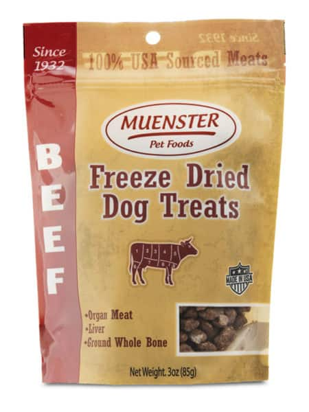 Muenster Milling grain-free dog food 35% off and free bag of treats. (free ship over $49 order) 100% china ingredients free