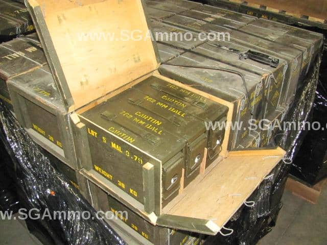 AMMO -   900 Round Crate - 7.62x51mm L2A2 Ball Surplus Ammo from Malaysia - 146 Grain Bi-metal FMJ - Brass Case Malaysian surplus $361 shipped 40CPR